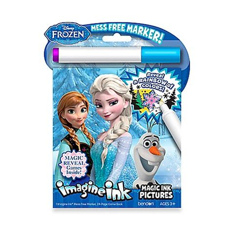 magic ink coloring books disney 174 frozen imagine ink magic ink with marker activity