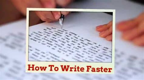 How To Write Essay Fast by Improve Handwriting Speed Part 1