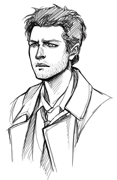 drawings hard sketches doromon sketches of attractive people why is castiel