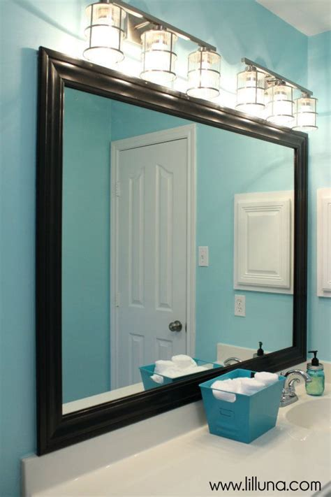 diy bathroom mirrors diy framed mirror tutorial for under 30 pinteres