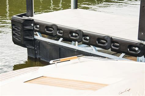 boat lift centering bumpers boat dock protection boat lift