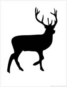 Reindeer Silhouette Outline by Printable Animal Silhouettes Cliparts Co
