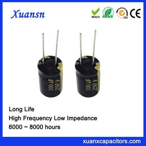 capacitor lifespan hours electronics aluminum electrolytic capacitor 100uf 250v