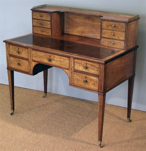 Antique Satinwood And Marquetry Desk Antique Bureau Antique Desks