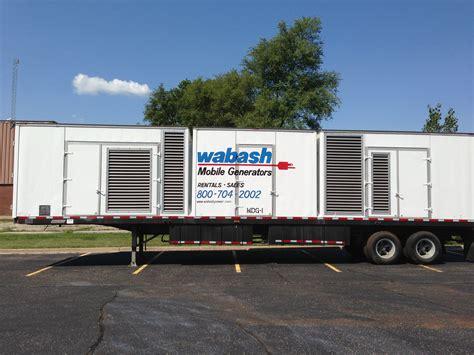 mobile generator mobile diesel generator rentals wabash power equipment