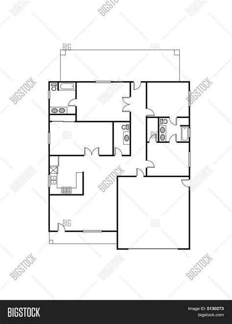 house layout vector house plan vector photo bigstock