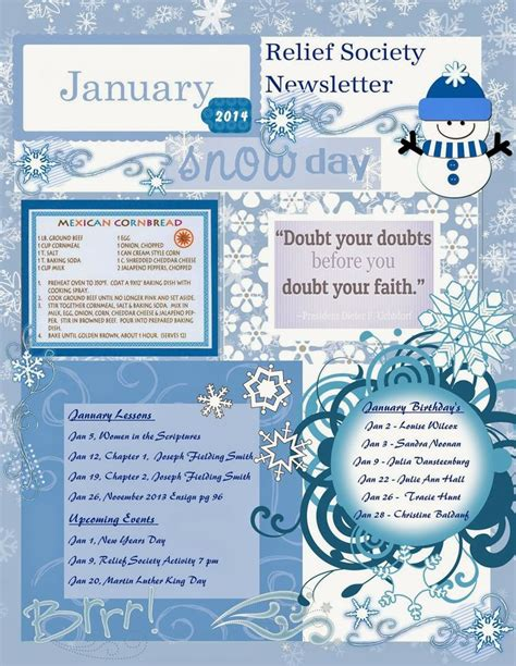 january newsletter template 16 best images about my creations on