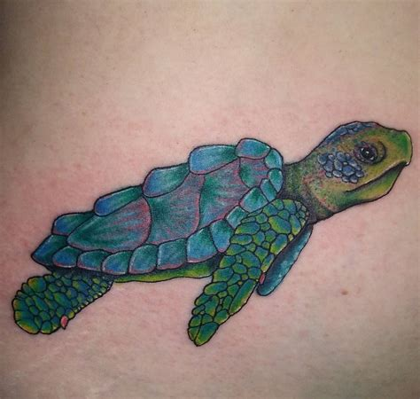 Green And Blue Sea Turtle Tattoo Green Sea Turtle Tattoos