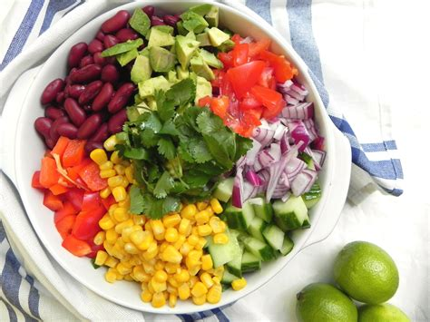 healthy dish salads colorful chopped rice salad v gf