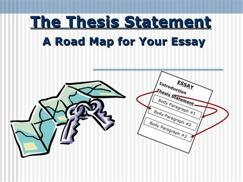 thesis map thesis statement