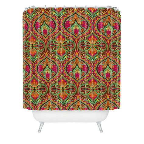 orange paisley shower curtain aimee st hill ogee orange shower curtain from deny designs