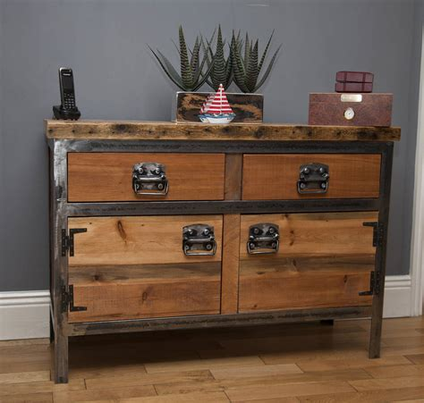 Industrial Dresser Furniture by Saxon Industrial Style Dresser Sideboard By Swinging