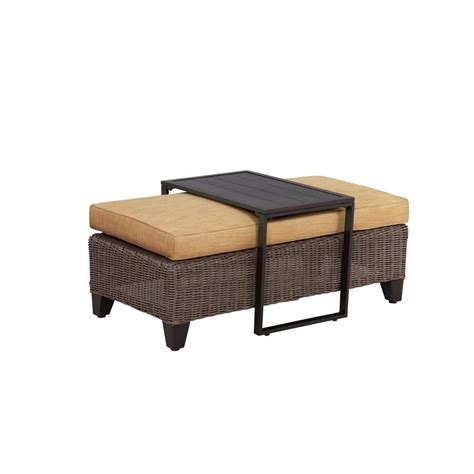 brown ottoman coffee table brown jordan vineyard patio ottoman coffee table with