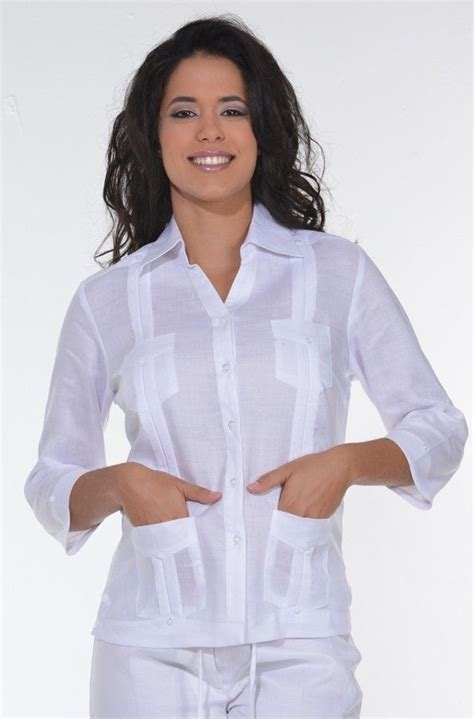 female quayavera     guayabera for women. Traditional Cuban tucks. Female Guayabera blouse