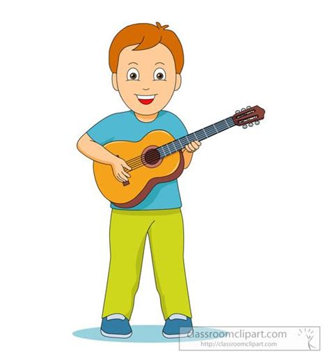 girl playing guitar clip art child playing guitar clipart 32