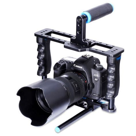 dslr stabilizer yelangu rig stabilizer kamera dslr 15mm rod black