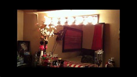 plug in vanity light strip homemade makeup vanity lights youtube