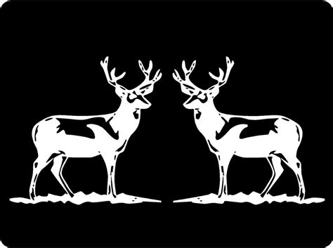 hunting decals car window stickers decal junky deer decals bucks set of two mirrored image hunting car