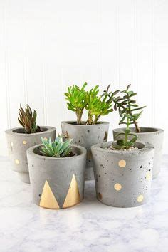 Pot Concrete Kaktus Mini Gold diy crafts ideas mini pineapple air plant holders this easy clay craft read