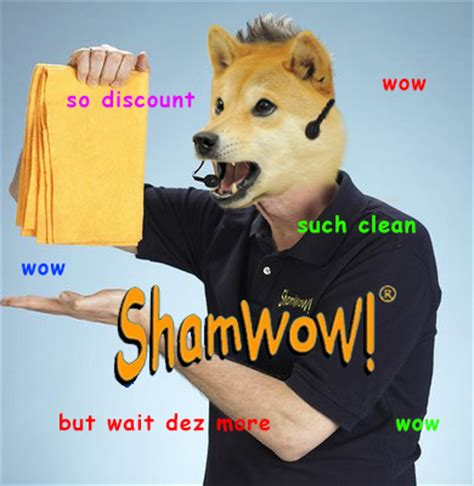 Meme Dog Wow - shamwow doge know your meme