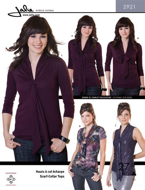 pattern review jalie jalie 2921 scarf collar tops