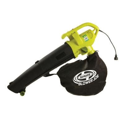 sun joe leaf blower joe 200 mph 450 cfm 3 in 1 electric