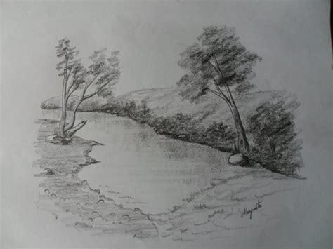 imagenes de paisajes dibujados a lapiz dibujar paisaje a l 225 piz dibujo r 225 pido que descansa y