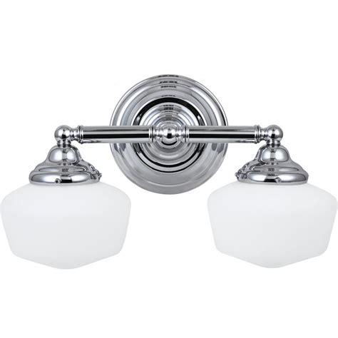Bathroom Vanity Lights Fluorescent Sea Gull Lighting 2 Light Chrome Fluorescent Bathroom