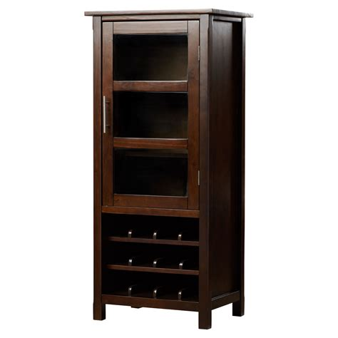 simpli home avalon bar cabinet with wine storage reviews