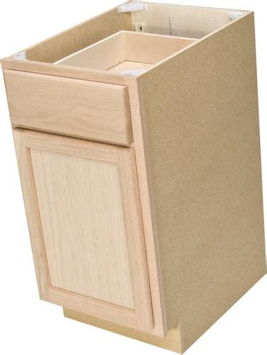 menards kitchen cabinets unfinished quality one 15 quot x 34 1 2 quot unfinished oak base cabinet