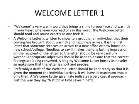 How to write welcome letter images letter format formal sample how to write a welcome letter to a guest gallery letter format collection of how to altavistaventures Gallery