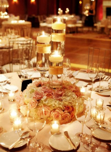 wedding centerpiece ideas with candles archives weddings romantique - Wedding Reception Centerpieces Floating Candles