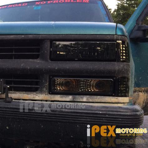 1994 1998 Chevy Silverado Tahoe Smoke Headlights Combo W