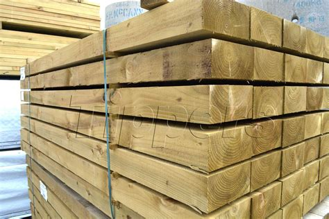 Wooden Sleeper by Tippers New Wooden Sleepers 100mmx200mmx2 4m