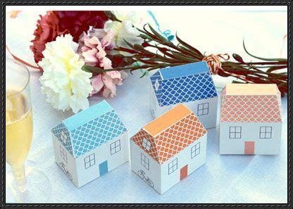 Paper Craft Wedding - beautiful wedding decoration paper house template free