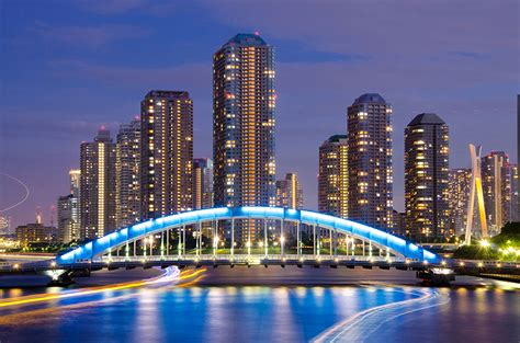 lights cities images bridges rivers skyscrapers