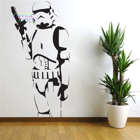 wall sticker vinyl aliexpress buy wars poster large trooper