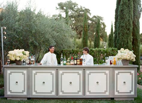 Backyard Wedding Bar Wine Country Wedding