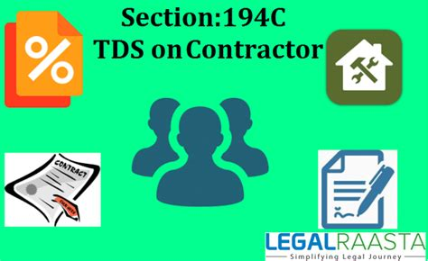section of tds section 194c tds on contract rates threshold limit