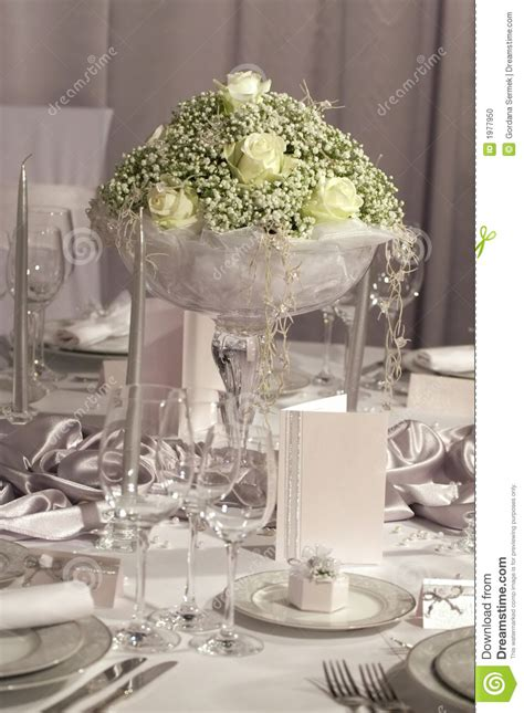 table set  wedding dinner stock photo image