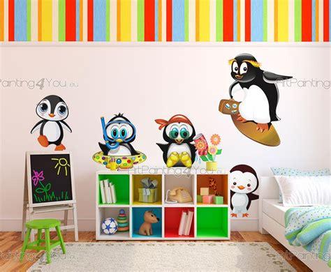 kinderzimmer bild pinguin wandtattoo wandsticker kinderzimmer pinguine kit 1507de