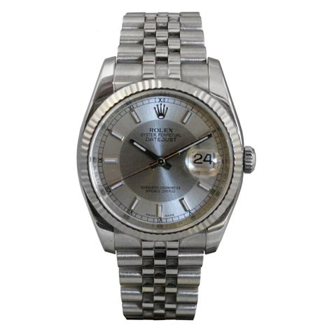 pre owned rolex mens stainless steel datejust pre