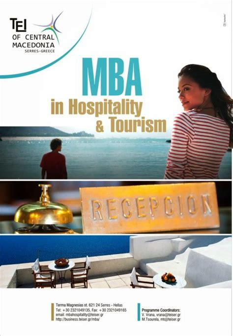 Hospitality Mba by Postgraduate Program Mba In Hospitality And Tourism