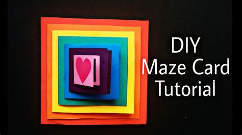 card techniques free diy maze card tutorial handmade card idea
