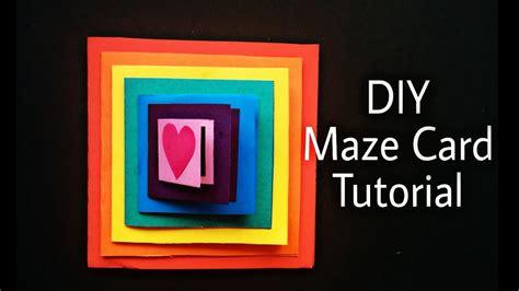 tutorial carding card diy maze card tutorial handmade card idea youtube