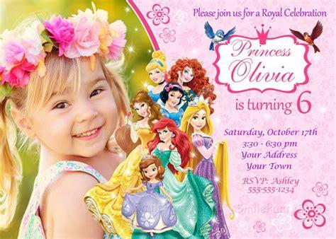 disney princess invitation princess birthday by smileparty on etsy - Princess Invitations Etsy