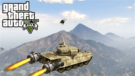 mod gta 5 flying gta 5 mod flying tank youtube