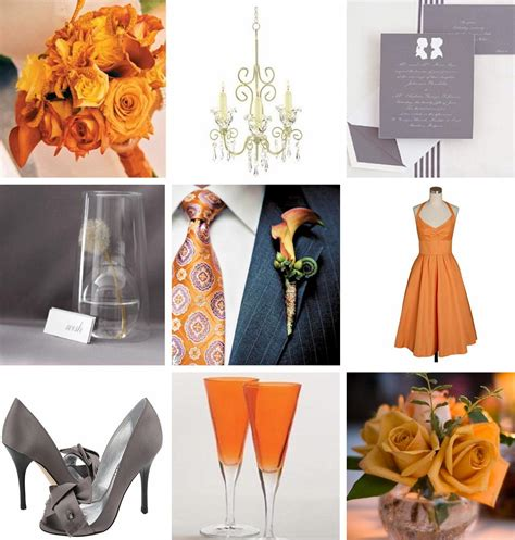 chagne wedding colors orange and gray wedding colors relaxedbride