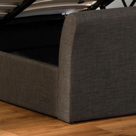 sleigh ottoman bed emporia sovereign 4ft6 double charcoal fabric ottoman