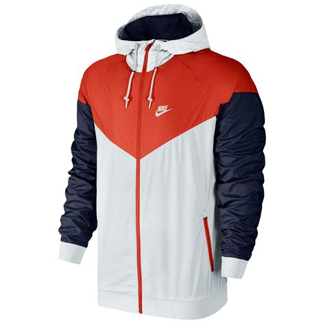 nike windbreaker nike windrunner men s running jacket white navy red